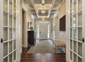 Foyer with french doors