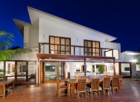 Luxurious home with outdoor entertaining area