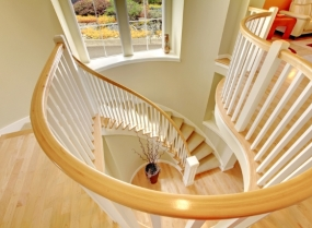 Beautiful luxury modern staircase design.