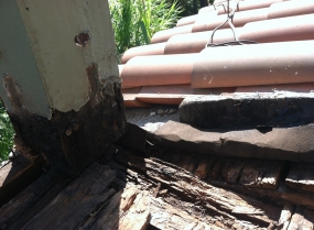 Rotting wood from water damage - Beverly Hills, CA