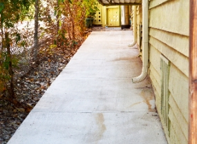 water damaged concrete repair