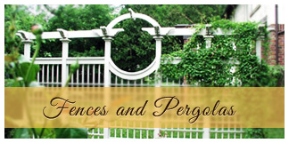 beautiful fences and pergolas