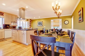 Luxury large kitchen and living room