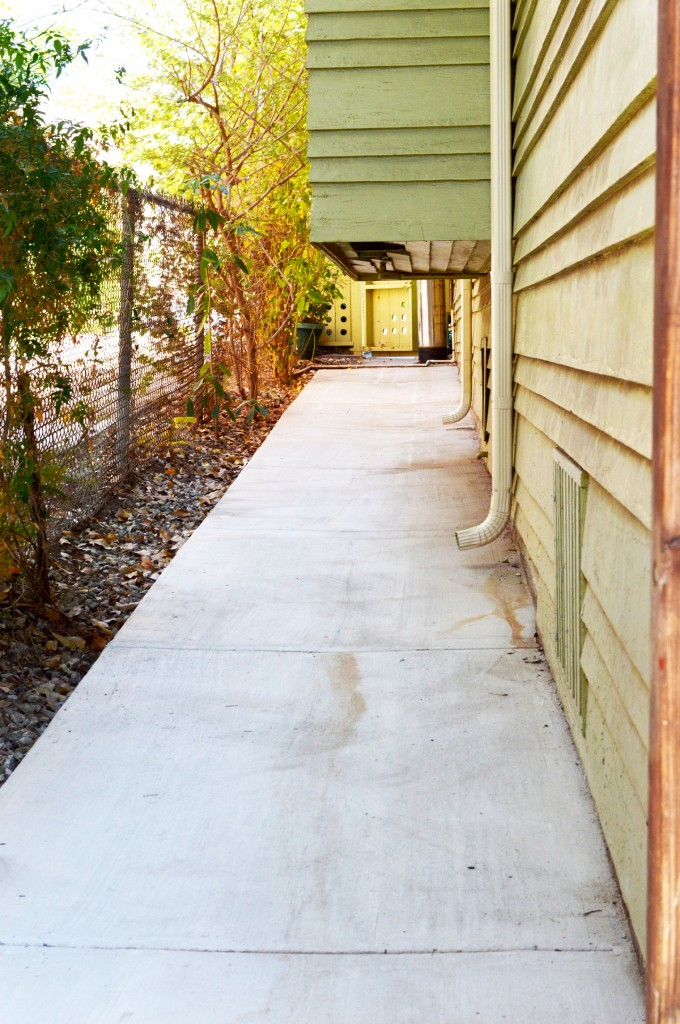 after picture of concrete pathway