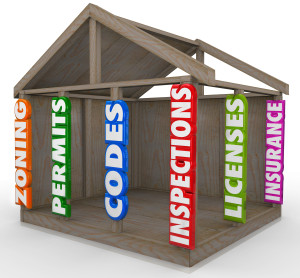 building permits, codes, inspections