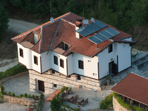 solar panels on the top roof of a house ottoman style