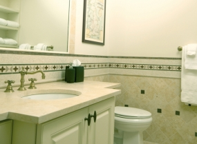 custom bathroom with tile work