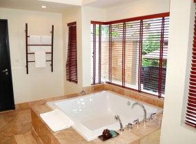 Modern bathroom interior at the luxury villa, Phuket, Thailand