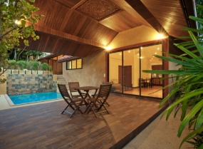 Patio with a pool