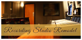 remodeled recording studio