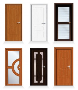 Classic interior and front wooden iterior doors, front doors