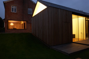 Exterior Of Modern House With Extension