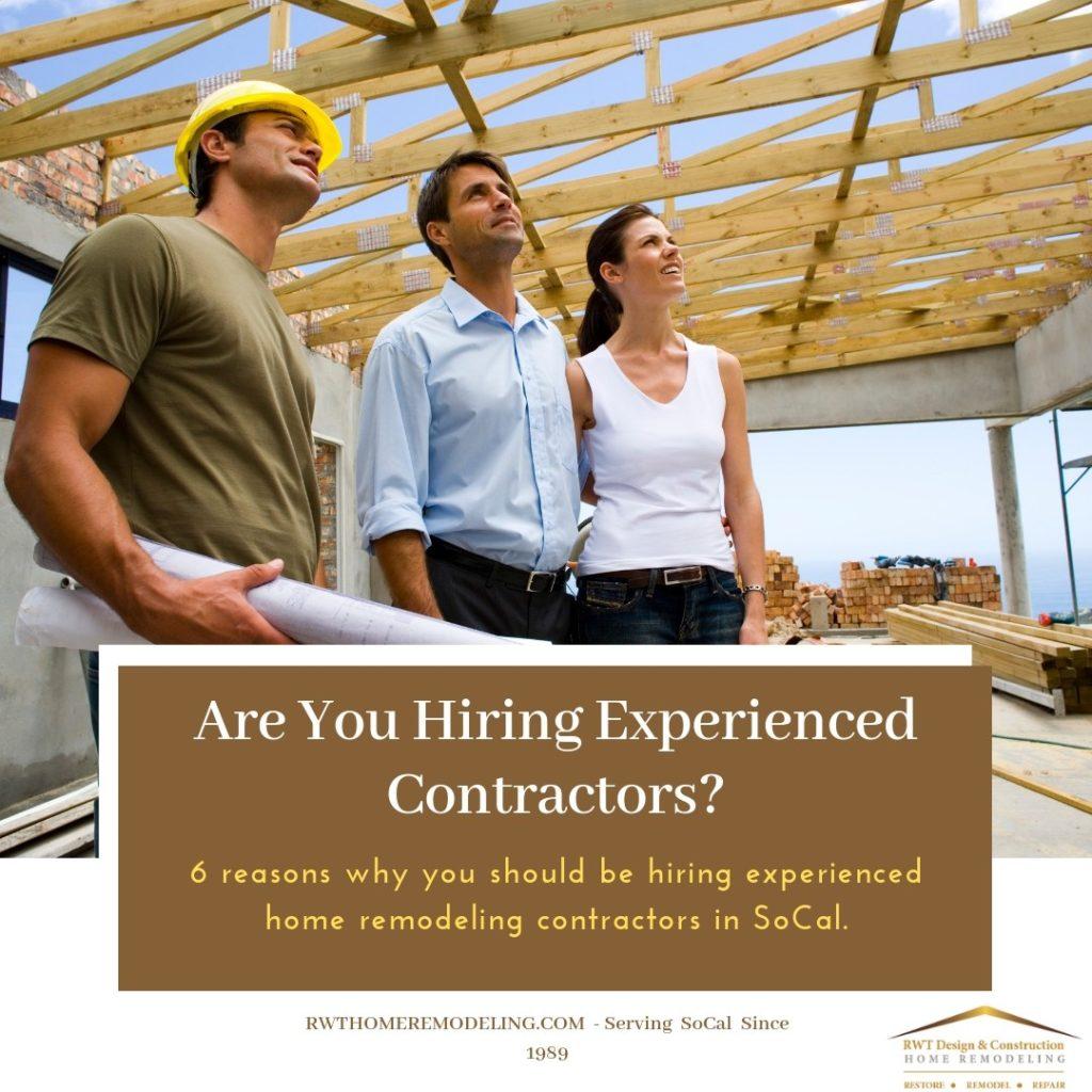 experienced SoCal contractors